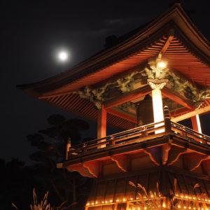 月夜野の月