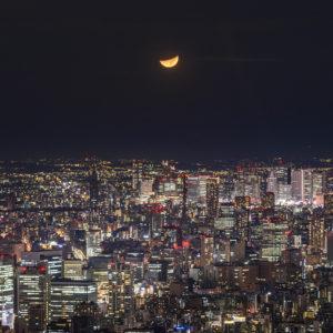 東京スカイツリー®から望む月