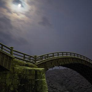 岩国の月(錦帯橋・岩国城)