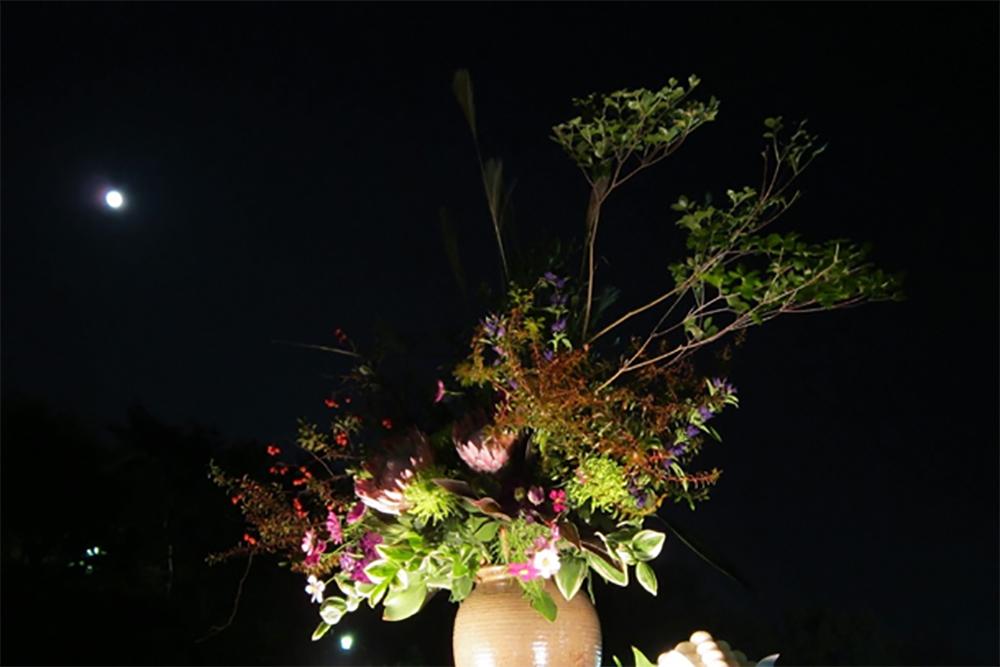 須磨離宮公園から望む月